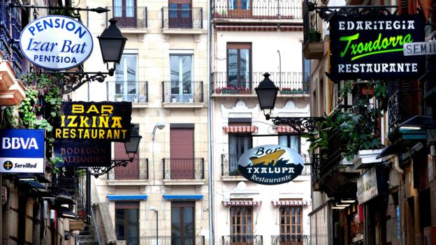 San Sebastian's Old Town is filled with restaurants – and tourists (Credit: Credit: ilpo musto/Alamy)