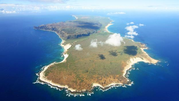 An aerial view of Ni'ihau (Credit: Credit: Wikipedia.org)