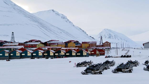 The Norwegian town of Longyearbyen (Credit: Credit: Berit Roald/AFP/Getty)