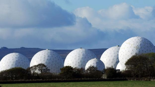 The radar domes of RAF Menwith Hill dominate the skyline (Credit: Credit: Christopher Furlong/Getty)
