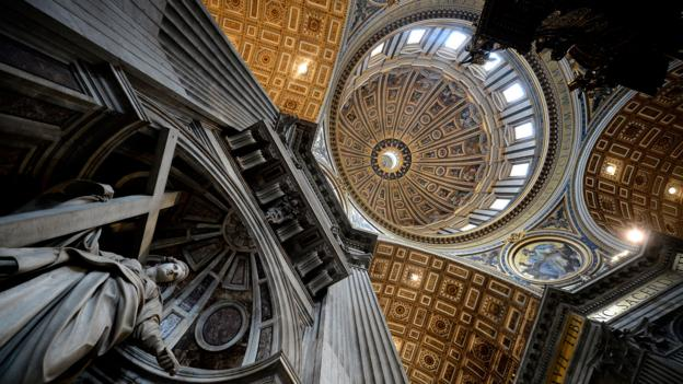 The dome of St Peter's Basilica at the Vatican (Credit: Credit: Filippo Monteforte/AFP/Getty)
