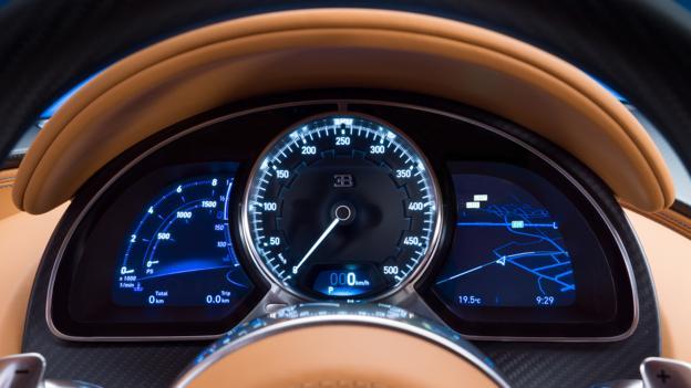 Speedometer Bugatti Chiron