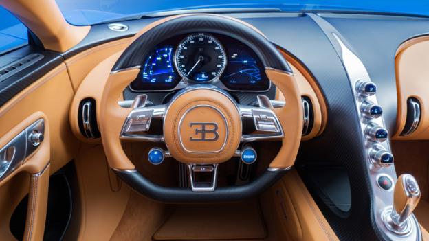 Interiro Bugatti Chiron