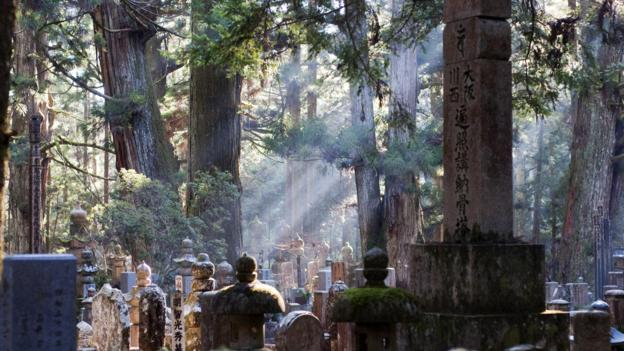 Okunoin Cemetery is deep in an ancient forest (Credit: Credit: alq666/Flickr/CC BY-SA 2.0)