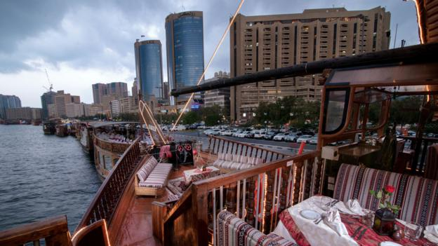 The top deck of the Al Mansour Dhow