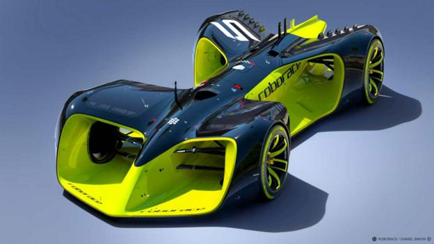 Car news flash: a race car that does the driving is in the works.