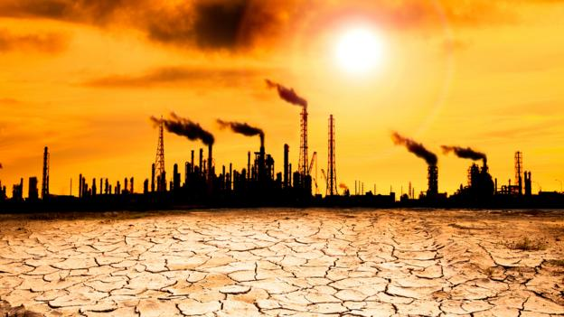 Greenhouse gas emissions are warming the world (Credit: Tom Wang/Alamy Stock Photo)