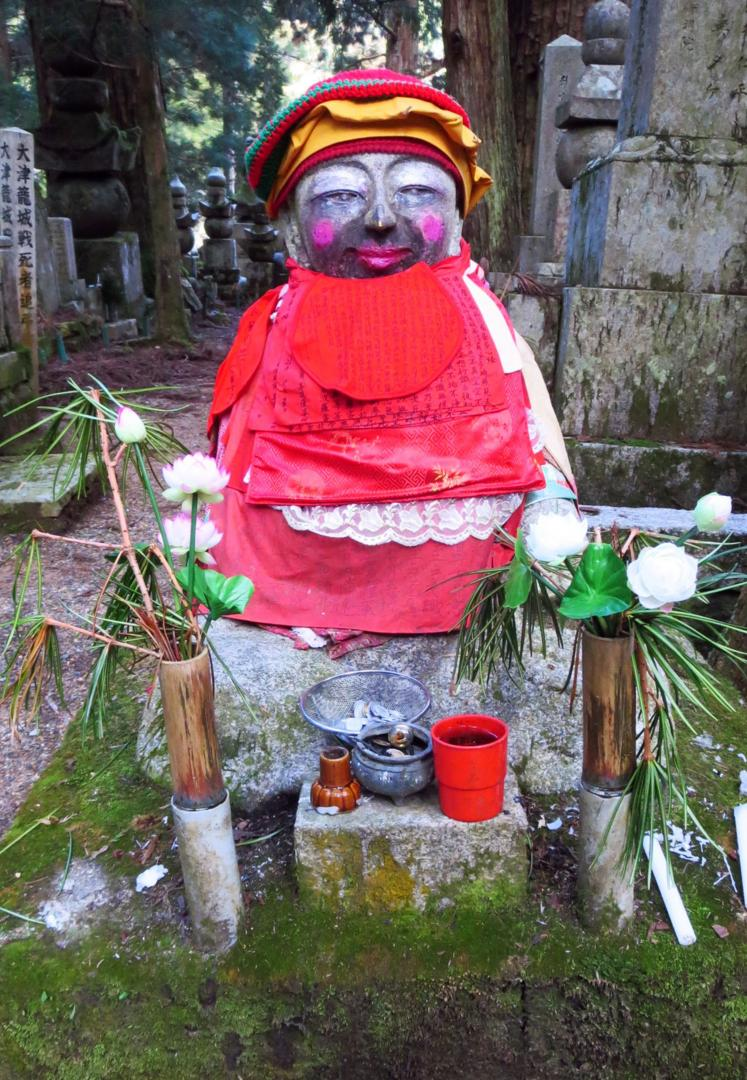 Jizo Bosatsu is usually depicted smiling with pink cheeks (Credit: Credit: Adam H. Graham)