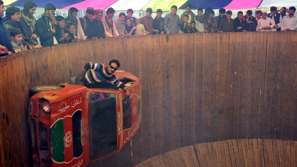 In Afghanistan, driving the Wall of Death