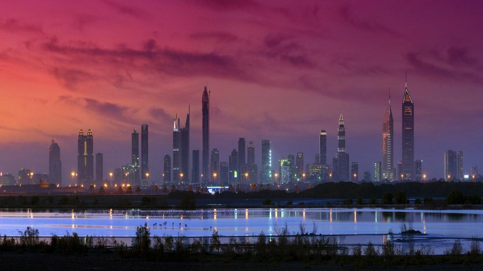 View of Dubai's skyline across the bay (Thinkstock)
