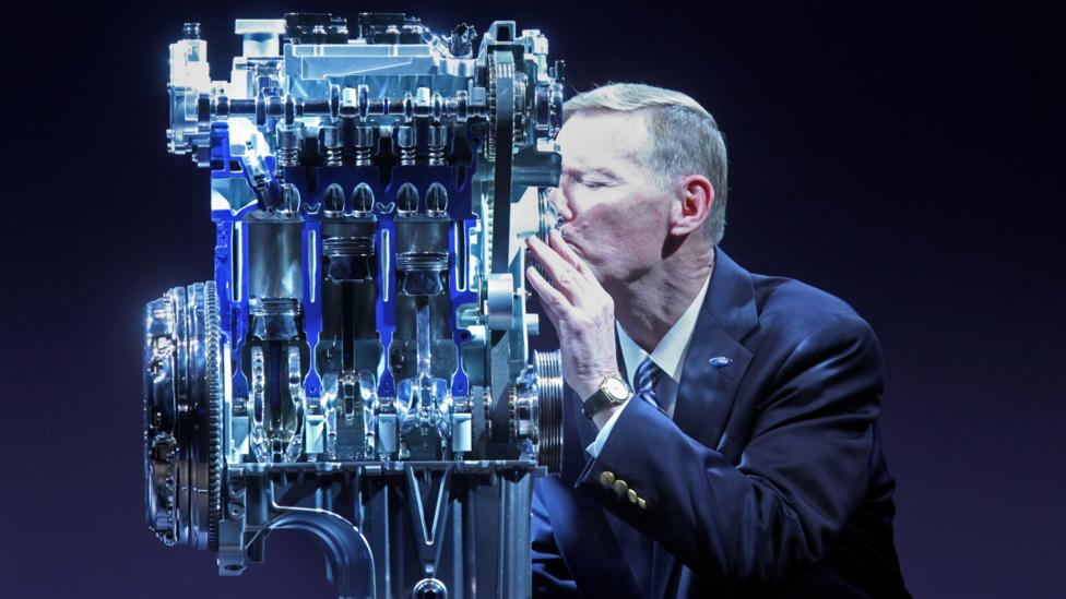 Ford CEO Alan R Mullaly feels strongly about the carmaker's 1-litre engine. (Ford Motor)