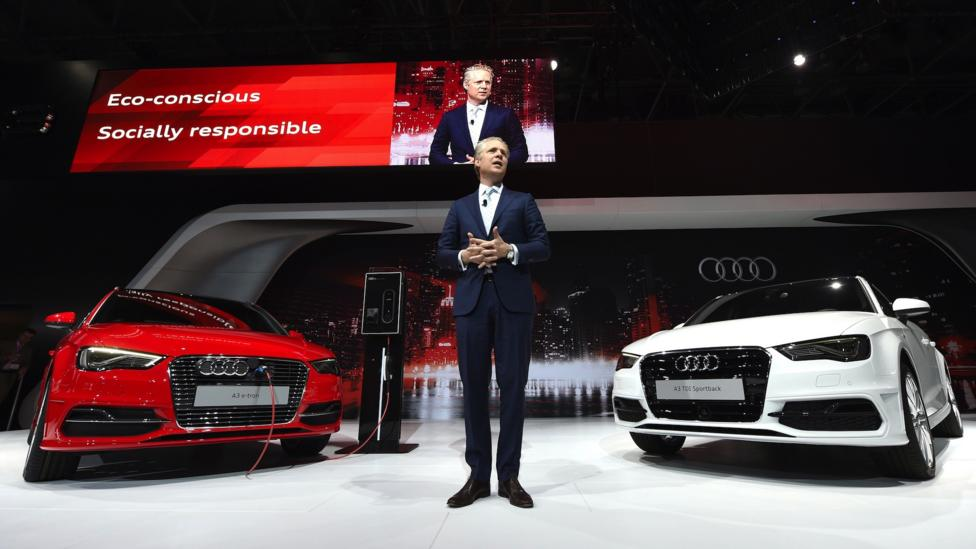 Audi of America president Scott Keogh introduces the A3 in New York on 16 April.