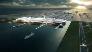 "A plan for an island airport in the Thames Estuary, dubbed ""Boris Island"", looks set to be shelved, the BBC understands."