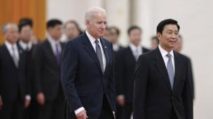 "US Vice-President Joe Biden begins a high-profile trip to China by encouraging people to ""challenge the government""."