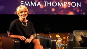Britain's Emma Thompson is named the year's best film actress by the National Board of Review for her role as Mary Poppins creator PL Travers in Saving Mr Banks.