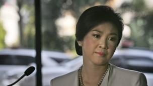 Thai Prime Minister Yingluck Shinawatra rejects protesters' demands that she resign before February's snap elections.