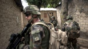 Two French soldiers are killed in overnight fighting in the Central African Republic amid an operation to restore order to the troubled country.