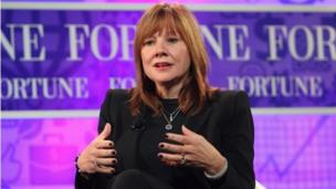 US car giant General Motors says Mary Barra, formerly product development chief, is its new chief executive, the first female boss for the company.