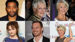 British actresses Emma Thompson and Dame Judi Dench are among the British stars shortlisted for this year's Screen Actors Guild awards.
