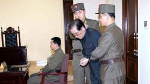"The North Korean leader's uncle, Chang Song-thaek, is executed after being purged for ""acts of treachery"", says the state news agency."
