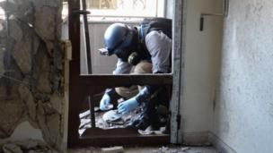 "Chemical weapons were ""probably used"" at five out of seven sites in Syria investigated by UN experts, their report says."