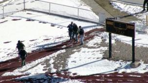 Two students have been injured in a school shooting in Colorado and the gunman is dead of an apparent self-inflicted gunshot wound, police say.