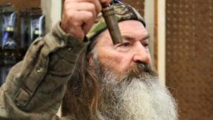 Duck Dynasty's Phil Robertson has been suspended from the show following derogatory remarks about homosexuality.