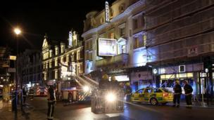 "Leading lights of London's Theatreland say they are ""rocked and shocked"" by the ceiling collapse at a West End theatre that left dozens of people injured."
