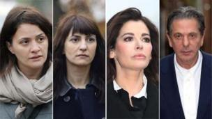 Two sisters who worked as personal assistants for Nigella Lawson and Charles Saatchi are cleared of defrauding the couple.