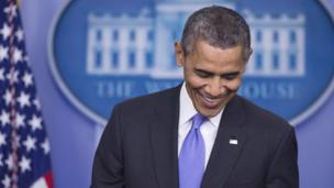 Citing stronger growth figures, US President Barack Obama says 2014 will be a 'breakthrough year' for the US economy.