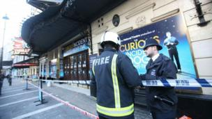 Initial safety checks at the Apollo Theatre in London, where scores of people were injured after part of a ceiling collapsed, are completed.