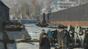 The Association of Art Museum Directors (AAMD) calls for action against the Maier Museum of Art for selling George Bellows' Men of the Docks to the National Gallery.