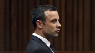 An ex-girlfriend tells the Oscar Pistorius trial that he fired a gun from a car, as a security guard tells of the shock of finding him with a dying Reeva Steenkamp.