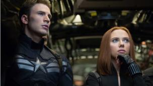 Marvel's Captain America: The Winter Soldier claims a third week at number one in North America, while Johnny Depp's latest movie falls flat.
