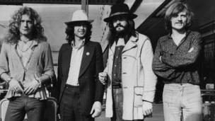Legendary rock group Led Zeppelin make public two previously unheard recordings.