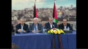 Rival Palestinian factions of Fatah and Hamas announce a reconciliation deal, more than seven years after a violent split between them.