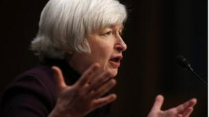 "US Federal Reserve chair Janet Yellen says there is still ""remaining slack in the labour market""."