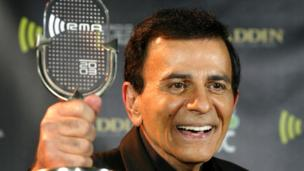 The body of late US DJ Casey Kasem is transported to Canada amid a bitter family feud, a month after the star's death.