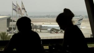 The suspension of US and European airline flights to Israel's Ben Gurion airport after a nearby rocket attack has been extended for a second day.