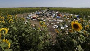 International forensic scientists reach the site of the flight MH17 crash in east Ukraine after the government halts military operations for a day.