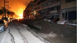 A series of gas explosions in the southern Taiwanese city of Kaohsiung kills at least 24 people and injures about 270 others.