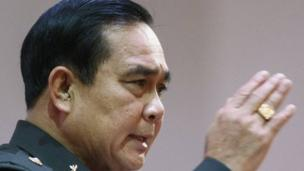 Thailand's junta leader General Prayuth Chan-ocha, who led a coup in May, is named the new prime minister, after a parliamentary vote.