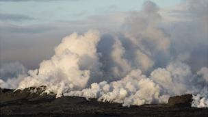 An eruption near Iceland's Bardarbunga volcano that briefly threatened air travel has ended, local officials say.