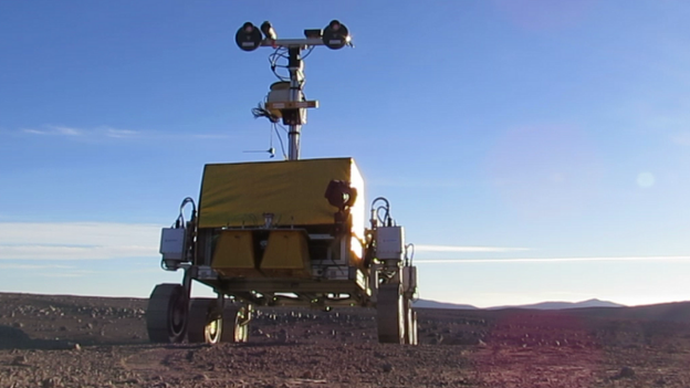 The European Space Agency produces a list of four possible locations on Mars where it could send a rover in 2018.