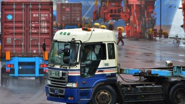 Japan's trade deficit edges higher in September despite exports growing at their fastest pace in seven months.