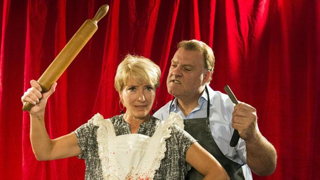 """Actress Emma Thompson says her recent stage comeback in Sweeney Todd brought her to tears and that it is a """"dream come true"""" to bring the production to London."""