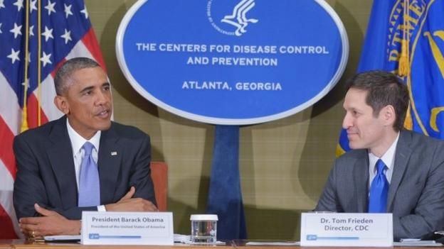 US President Barack Obama calls the Ebola outbreak in West Africa a threat to security worldwide while announcing a larger US role, including 3,000 troops, to help fight the virus.