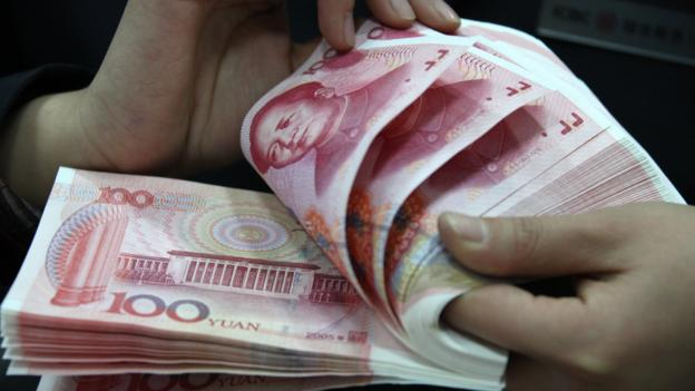 China's central bank is said to be injecting 500bn yuan ($81bn; £50bn) into the five biggest state-owned banks to counter slowing growth.