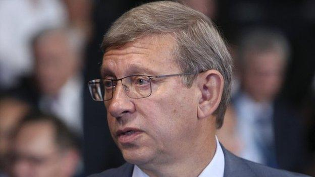 Russian billionaire Vladimir Yevtushenkov is put under house arrest on suspicion of money-laundering, and shares in his company Sistema tumble.