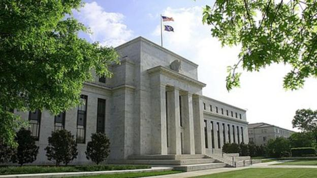 "The US Federal Reserve says it will raise interest rates once a ""considerable time"" has passed after its stimulus programme ends in October."